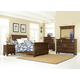 Hillsdale Furniture Pine Island 4pc Sleigh Bedroom Set in Dark Pine