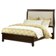 All-American New Orleans Twin Upholstered Bed in Antique Merlot