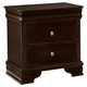 All-American New Orleans 2 Drawer Nightstand in Antique Merlot