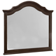 All-American French Market Youth Arched Mirror in Antique Merlot