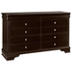 All-American French Market 6 Drawer Dresser in Antique Merlot