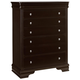All-American New Orleans 5 Drawer Chest in Antique Merlot