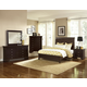 All-American New Orleans 4pc Low Profile Sleigh Bedroom Set in Antique Merlot