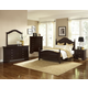 All-American New Orleans 4pc Poster Bedroom Set in Antique Merlot