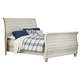 Hillsdale Furniture Pine Island Queen Sleigh Bed in Old White