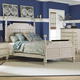 Hillsdale Furniture Pine Island Queen Poster Bed in Old White