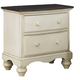 Hillsdale Furniture Pine Island 2 Drawer Nightstand in Old White 1052-771