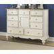 Hillsdale Furniture Pine Island Mule Dresser in Old White 1052-787