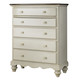 Hillsdale Furniture Pine Island 5 Drawer Chest in Old White 1052-785