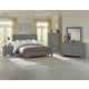 All-American French Market 4pc Low Profile Sleigh Bedroom Set in Zinc