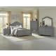 All-American French Market 4pc Poster Bedroom Set in Zinc