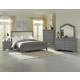 All-American French Market 4pc Upholstered Bedroom Set in Zinc