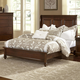 All-American New Orleans Full Low Profile Sleigh Bed in French Cherry