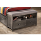 Hillsdale Furniture Urban Quarters Footboard Storage Bench in Black Steel/Antique Cherry 1265-381