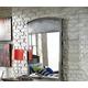 Hillsdale Furniture Urban Quarters Youth Metal Mirror in Black Steel/Antique Cherry 1265-721