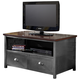 Hillsdale Furniture Urban Quarters 2 Drawer Youth Media Chest in Black Steel/Antique Cherry 1265-790