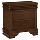 All-American New Orleans 2 Drawer Nightstand in French Cherry