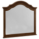 All-American French Market Youth Arched Mirror in French Cherry