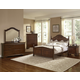 All-American French Market 4pc Poster Bedroom Set in French Cherry