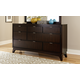 Hillsdale Furniture Denmark 7 Drawer Dresser in Dark Espresso 1813-717
