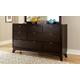 Hillsdale Furniture Denmark 7 Drawer Dresser in Dark Espresso 1813-717