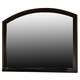 Hillsdale Furniture Denmark Landscape Mirror in Dark Espresso 1813-721