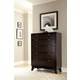 Hillsdale Furniture Denmark 5 Drawer Chest in Dark Espresso 1813-786