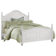 All-American French Market Twin Poster Bed in Soft White