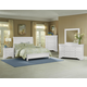 All-American New Orleans 4pc Low Profile Sleigh Bedroom Set in Soft White