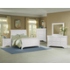 All-American French Market 4pc Sleigh Bedroom Set in Soft White