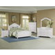 All-American French Market 4pc Poster Bedroom Set in Soft White