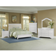All-American New Orleans 4pc Upholstered Bedroom Set in Soft White