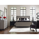 Legacy Classic Symphony 4Pc Panel Bedroom Set in Platinum and Black Tie
