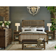 Legacy Classic 4-Piece Metalworks Wood Gate Bedroom Set in Factory Chic