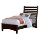 All-American Commentary Twin Benchback Bed in Merlot
