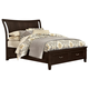 All-American Commentary Queen Wing Bed with Storage in Merlot