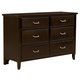 All-American Commentary 6 Drawer Dresser in Merlot