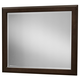 All-American Commentary Large Landscape Mirror in Merlot