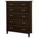 All-American Commentary 5 Drawer Chest in Merlot