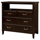 All-American Commentary 4 Drawer Media Chest in Merlot