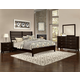 All-American Commentary 4pc Benchback Bedroom Set in Merlot