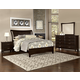 All-American Commentary 4pc Wing Bedroom Set in Merlot