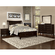 All-American Critique 4pc Wing with Storage Bedroom Set in Merlot