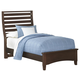 All-American Commentary Twin Benchback Bed in Cherry