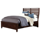 All-American Commentary Queen Benchback with Storage Bed in Cherry