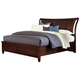 All-American Commentary Queen Wing Bed with Storage in Cherry