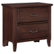 All-American Critique 2 Drawer Nightstand in Cherry
