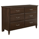 All-American Commentary 6 Drawer Dresser in Cherry