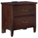 All-American Commentary 2 Drawer Nightstand with Charging Station in Cherry