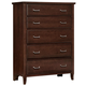 All-American Critique 5 Drawer Chest in Cherry